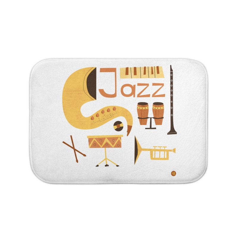 Vintage Jazz Illustration Home Bath Mat by amirabouroumie's Artist Shop