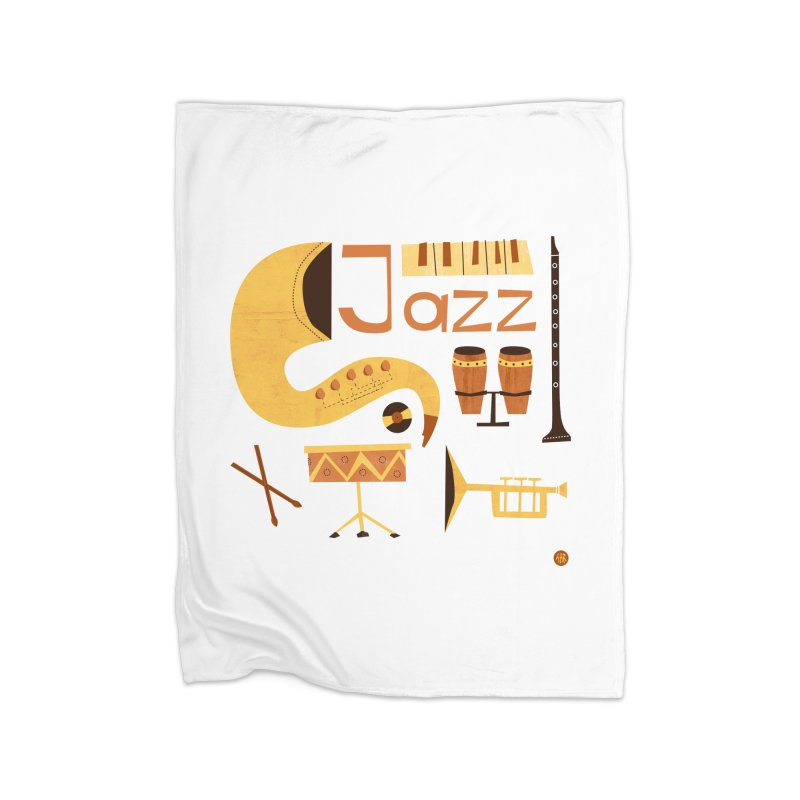 Vintage Jazz Illustration Home Blanket by amirabouroumie's Artist Shop
