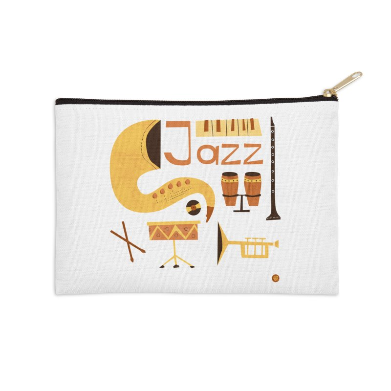 Vintage Jazz Illustration Accessories Zip Pouch by amirabouroumie's Artist Shop
