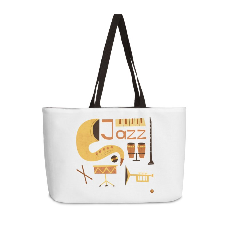 Vintage Jazz Illustration Accessories Weekender Bag Bag by amirabouroumie's Artist Shop