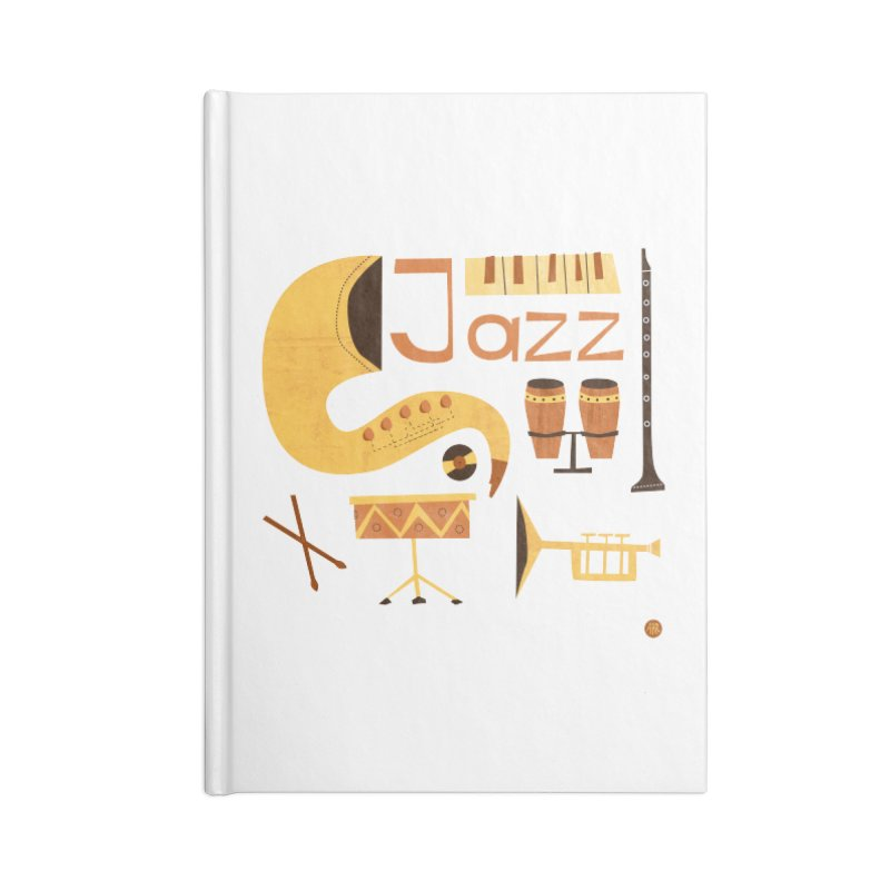 Vintage Jazz Illustration Accessories Blank Journal Notebook by amirabouroumie's Artist Shop
