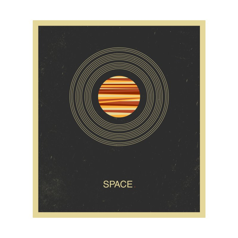 SPACE - Universe | Stars | Saturn | Science | Planets | Minimal | Swiss Design | Retro Art Print by amirabouroumie's Artist Shop