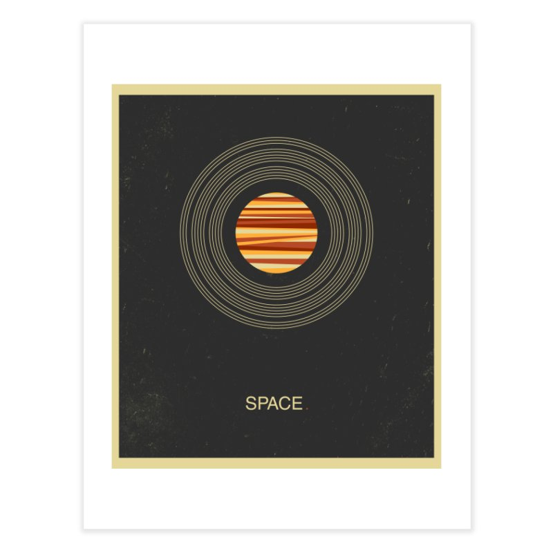SPACE - Universe | Stars | Saturn | Science | Planets | Minimal | Swiss Design | Retro Art Print Home Fine Art Print by amirabouroumie's Artist Shop