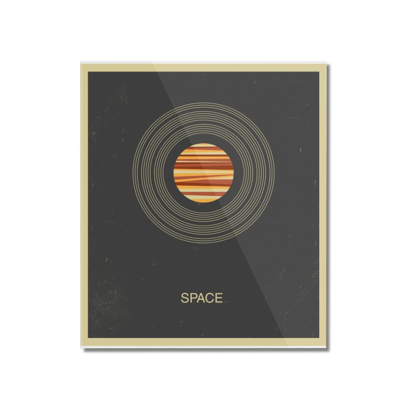 SPACE - Universe | Stars | Saturn | Science | Planets | Minimal | Swiss Design | Retro Art Print Home Mounted Acrylic Print by amirabouroumie's Artist Shop
