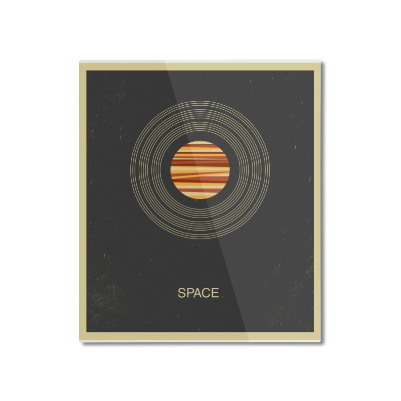 SPACE - Universe | Stars | Saturn | Science | Planets | Minimal | Swiss Design | Retro Art Print Home Mounted Aluminum Print by amirabouroumie's Artist Shop
