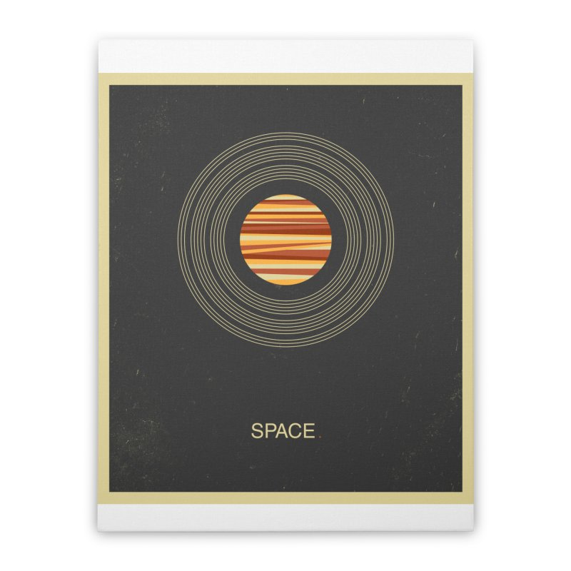 SPACE - Universe | Stars | Saturn | Science | Planets | Minimal | Swiss Design | Retro Art Print Home Stretched Canvas by amirabouroumie's Artist Shop