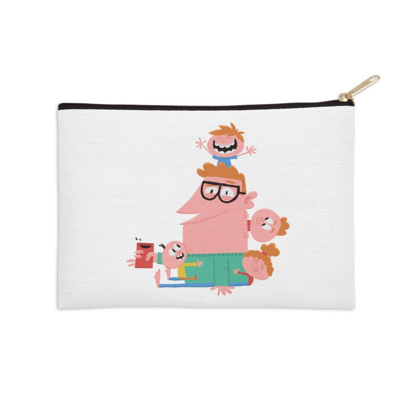 Dad has a Morning Coffee with Kids Accessories Zip Pouch by amirabouroumie's Artist Shop