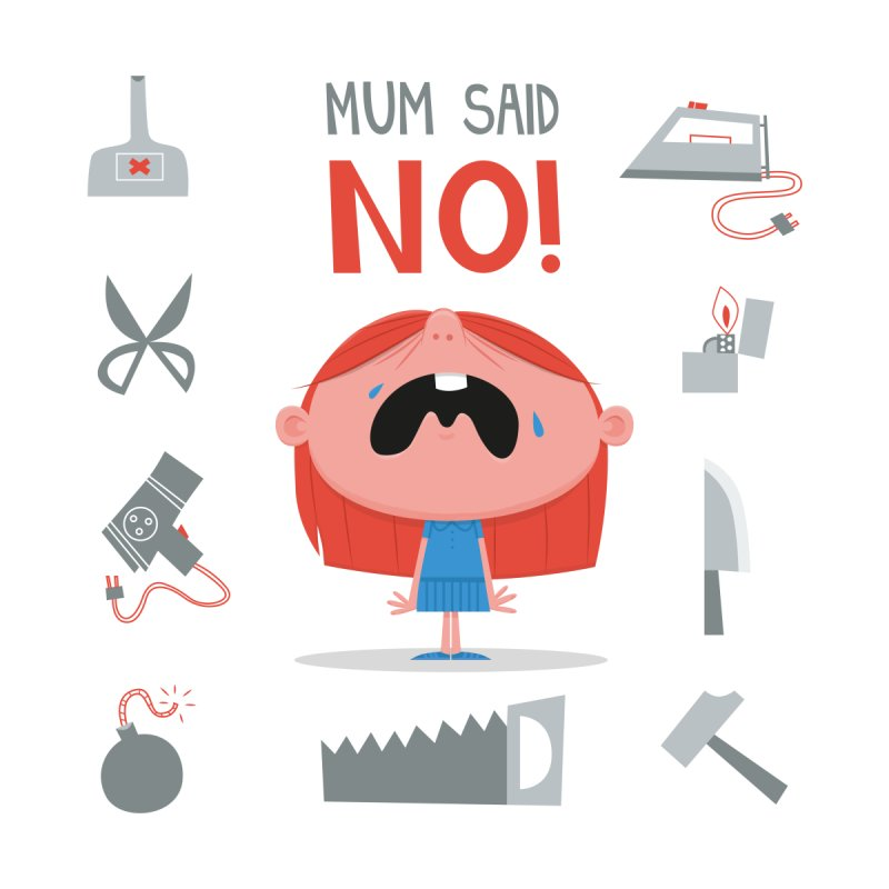 Mom Said No! by amirabouroumie's Artist Shop