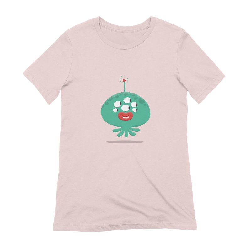 Alien Cartoon Illustration - It came from outer space Women's Extra Soft T-Shirt by amirabouroumie's Artist Shop