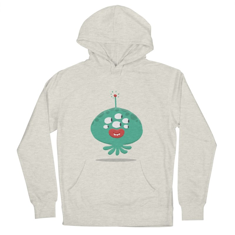 Alien Cartoon Illustration - It came from outer space Men's French Terry Pullover Hoody by amirabouroumie's Artist Shop