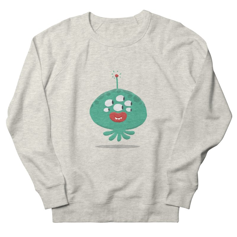 Alien Cartoon Illustration - It came from outer space Men's French Terry Sweatshirt by amirabouroumie's Artist Shop
