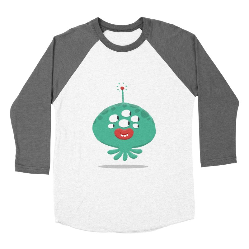 Alien Cartoon Illustration - It came from outer space Women's Baseball Triblend Longsleeve T-Shirt by amirabouroumie's Artist Shop