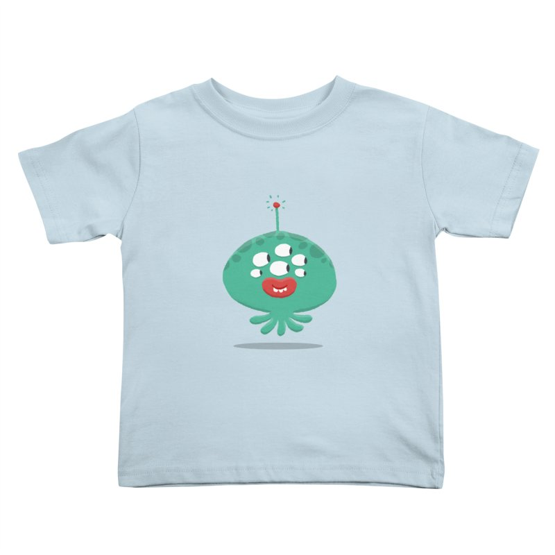Alien Cartoon Illustration - It came from outer space Kids Toddler T-Shirt by amirabouroumie's Artist Shop