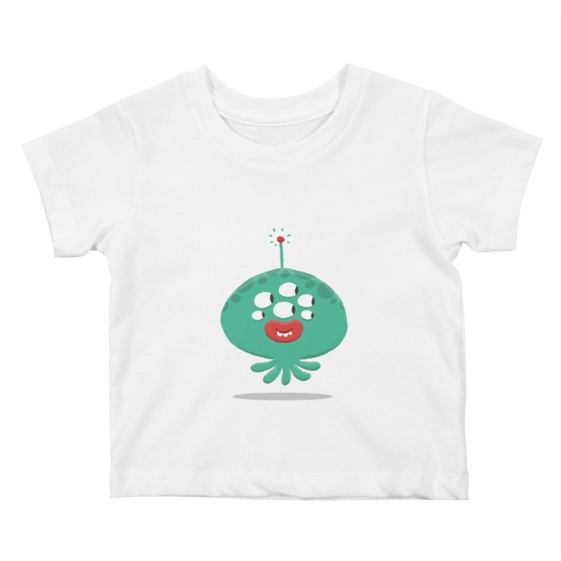 Alien Cartoon Illustration - It came from outer space Kids Baby T-Shirt by amirabouroumie's Artist Shop