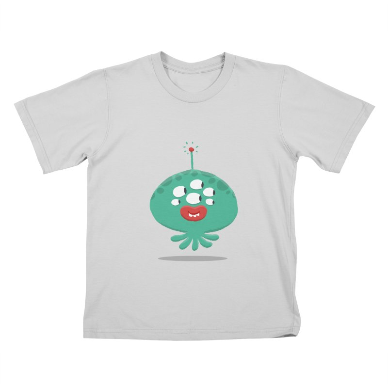 Alien Cartoon Illustration - It came from outer space Kids T-Shirt by amirabouroumie's Artist Shop