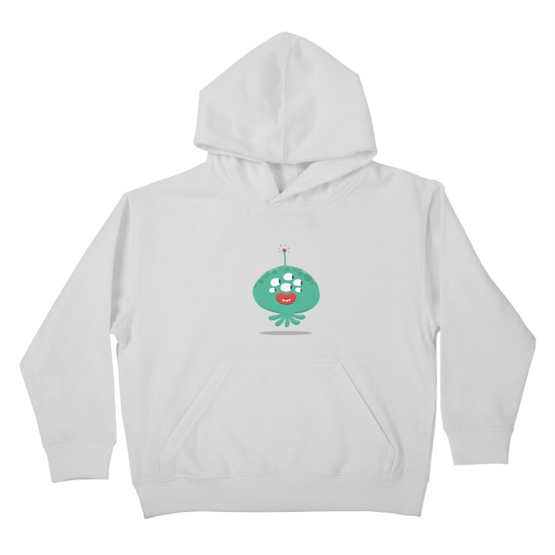 Alien Cartoon Illustration - It came from outer space Kids Pullover Hoody by amirabouroumie's Artist Shop