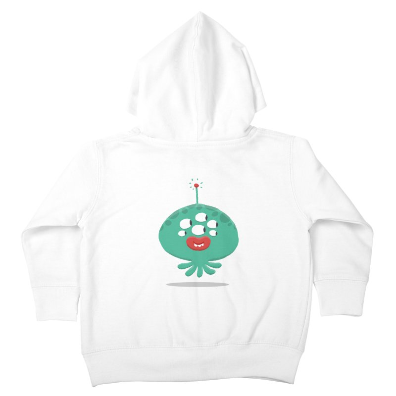 Alien Cartoon Illustration - It came from outer space Kids Toddler Zip-Up Hoody by amirabouroumie's Artist Shop
