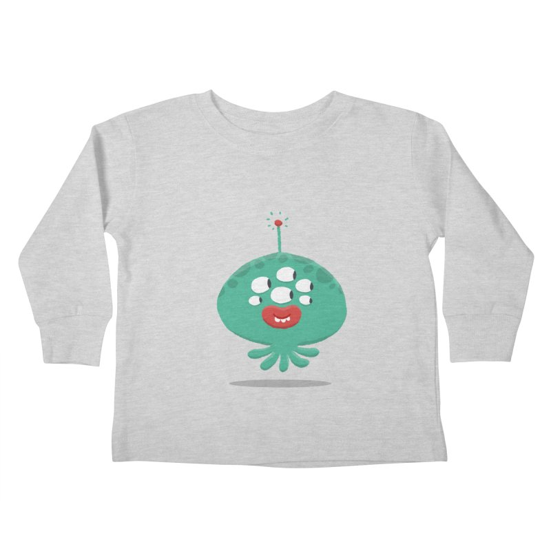 Alien Cartoon Illustration - It came from outer space Kids Toddler Longsleeve T-Shirt by amirabouroumie's Artist Shop