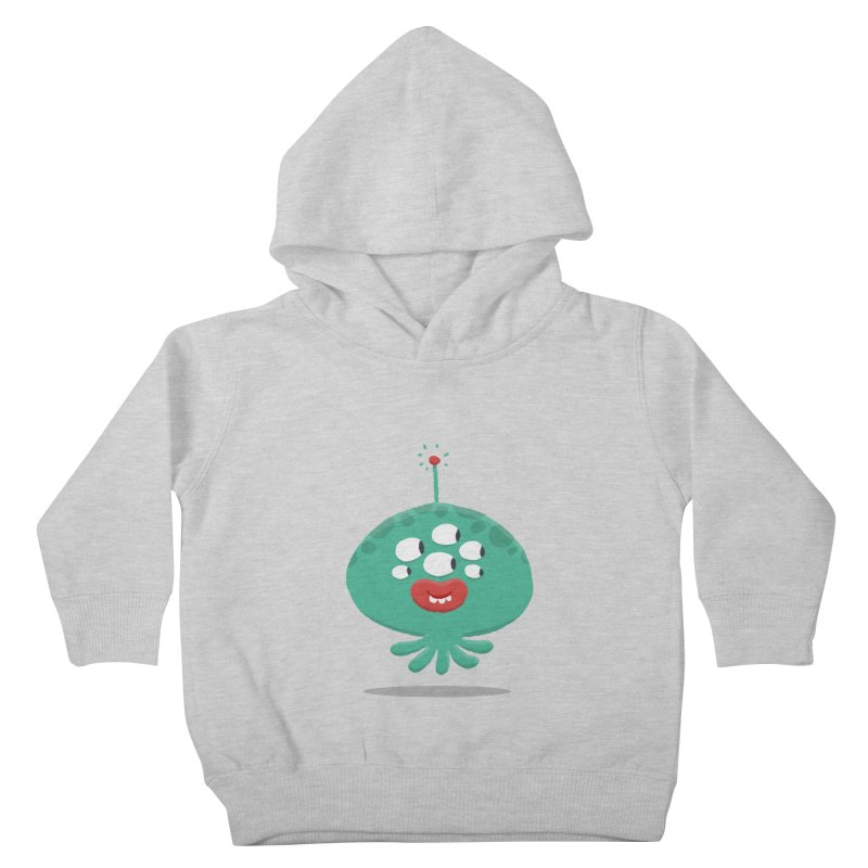Alien Cartoon Illustration - It came from outer space Kids Toddler Pullover Hoody by amirabouroumie's Artist Shop