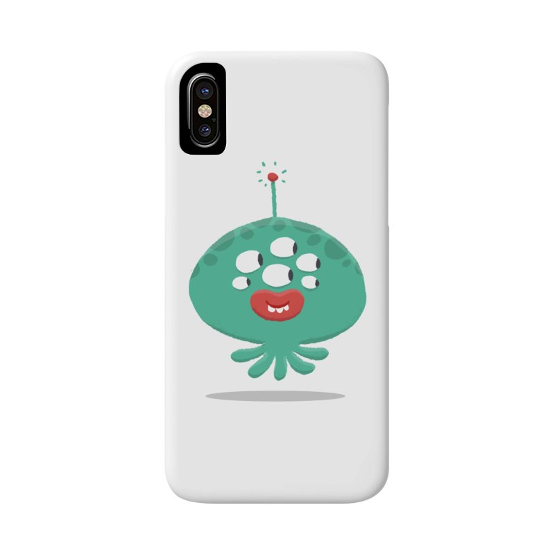 Alien Cartoon Illustration - It came from outer space Accessories Phone Case by amirabouroumie's Artist Shop