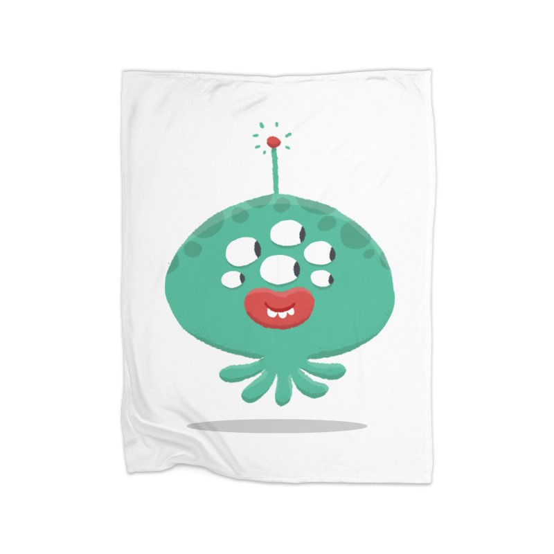 Alien Cartoon Illustration - It came from outer space Home Blanket by amirabouroumie's Artist Shop