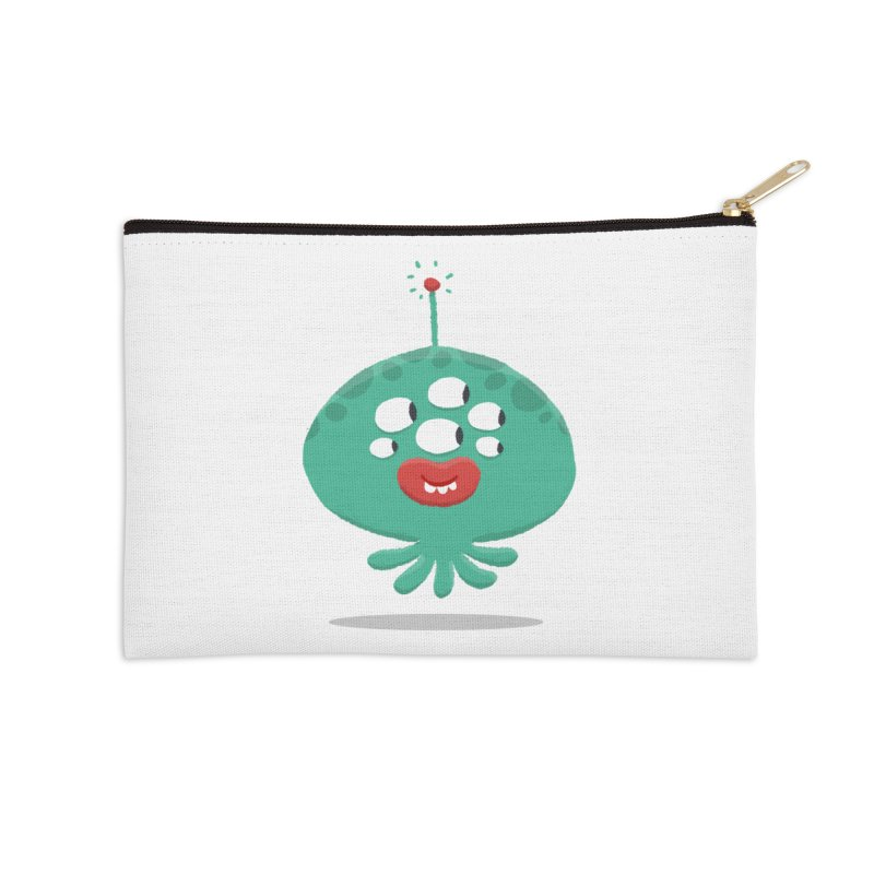 Alien Cartoon Illustration - It came from outer space Accessories Zip Pouch by amirabouroumie's Artist Shop