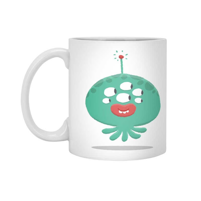 Alien Cartoon Illustration - It came from outer space Accessories Standard Mug by amirabouroumie's Artist Shop