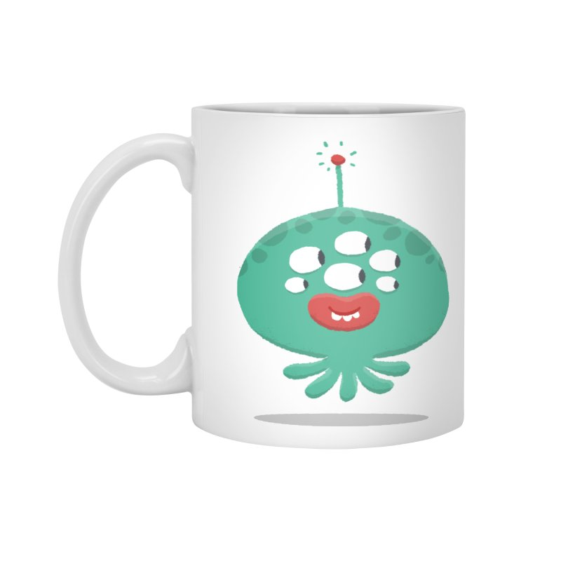 Alien Cartoon Illustration - It came from outer space Accessories Mug by amirabouroumie's Artist Shop