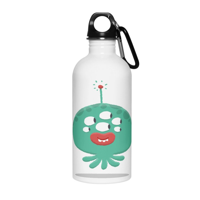 Alien Cartoon Illustration - It came from outer space Accessories Water Bottle by amirabouroumie's Artist Shop