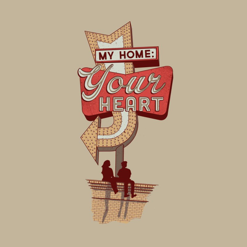My Home, Your Heart Women's V-Neck by Amor de Verano Studio's Shop