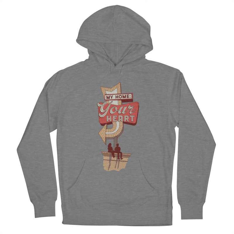 My Home, Your Heart Men's French Terry Pullover Hoody by Amor de Verano Studio's Shop