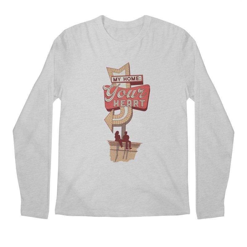 My Home, Your Heart Men's Regular Longsleeve T-Shirt by Amor de Verano Studio's Shop