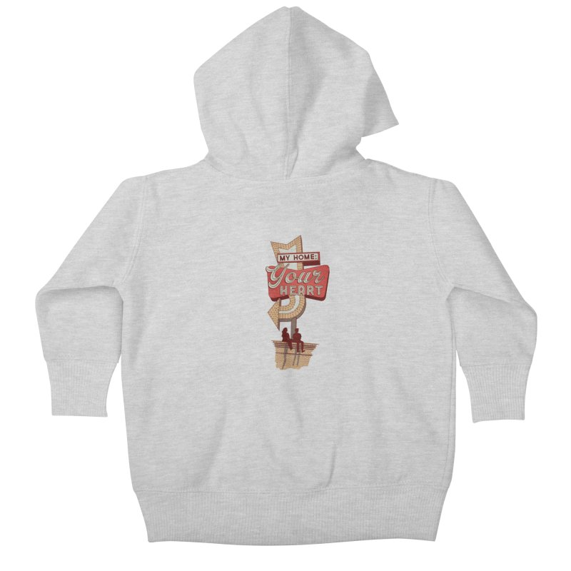 My Home, Your Heart Kids Baby Zip-Up Hoody by Amor de Verano Studio's Shop