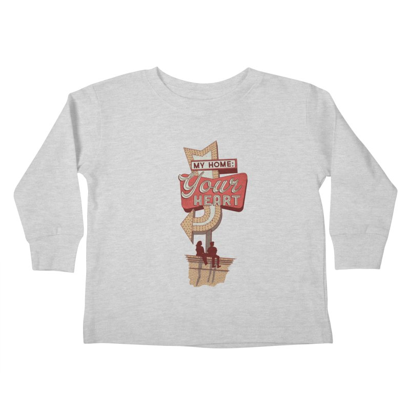 My Home, Your Heart Kids Toddler Longsleeve T-Shirt by Amor de Verano Studio's Shop