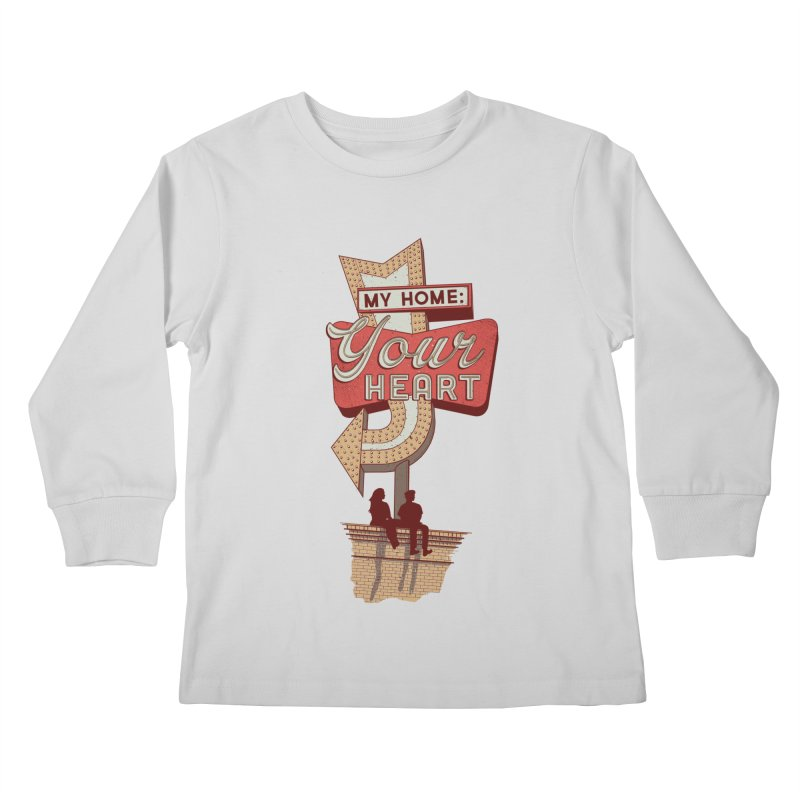 My Home, Your Heart Kids Longsleeve T-Shirt by Amor de Verano Studio's Shop