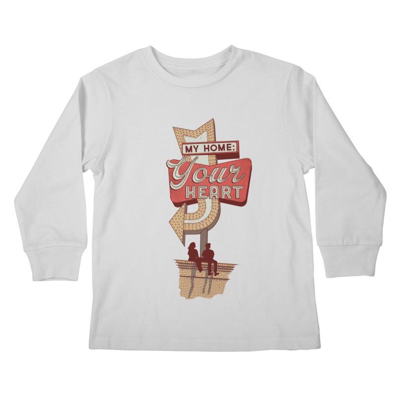 My Home, Your Heart Kids Longsleeve T-Shirt by Amor de Verano Studio's Shop