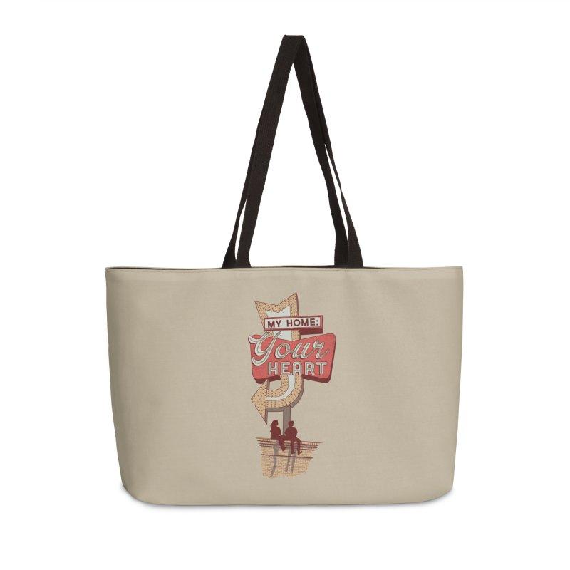My Home, Your Heart Accessories Weekender Bag Bag by Amor de Verano Studio's Shop