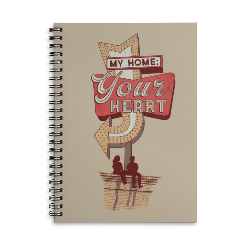 My Home, Your Heart Accessories Lined Spiral Notebook by Amor de Verano Studio's Shop