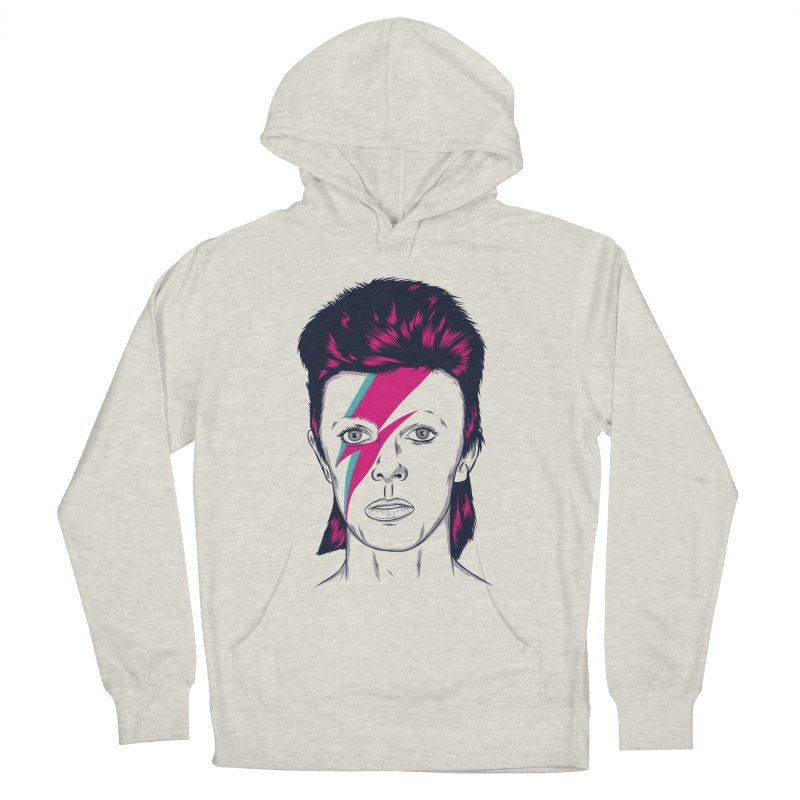 Bowie Men's French Terry Pullover Hoody by Amor de Verano Studio's Shop