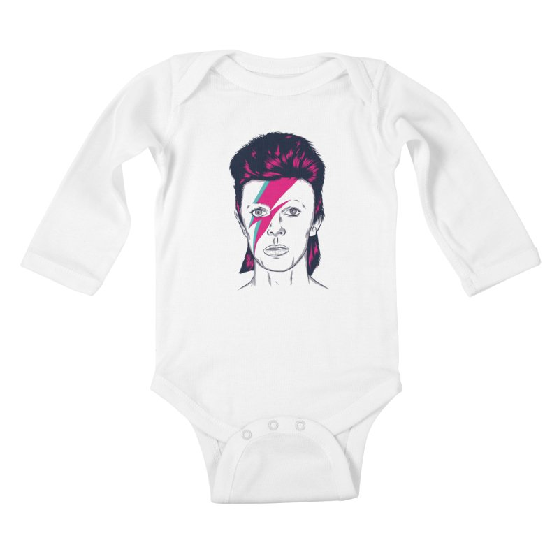 Bowie Kids Baby Longsleeve Bodysuit by Amor de Verano Studio's Shop