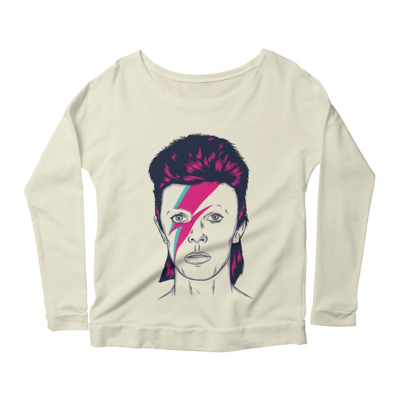 Bowie Women's Scoop Neck Longsleeve T-Shirt by Amor de Verano Studio's Shop