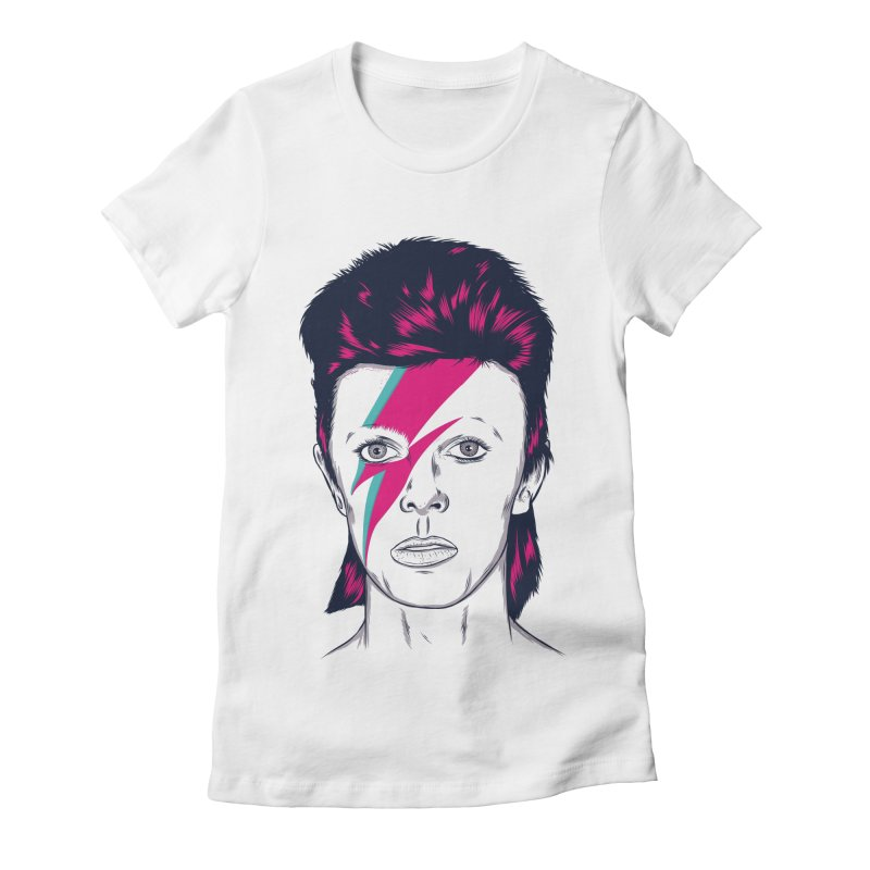 Bowie Women's Fitted T-Shirt by Amor de Verano Studio's Shop