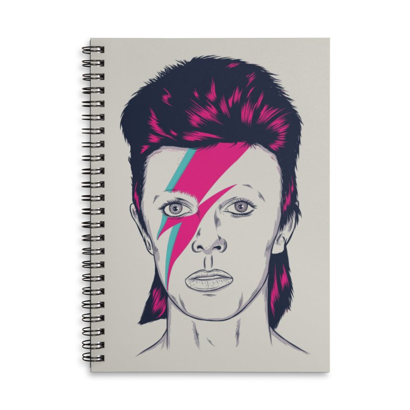 Bowie Accessories Lined Spiral Notebook by Amor de Verano Studio's Shop