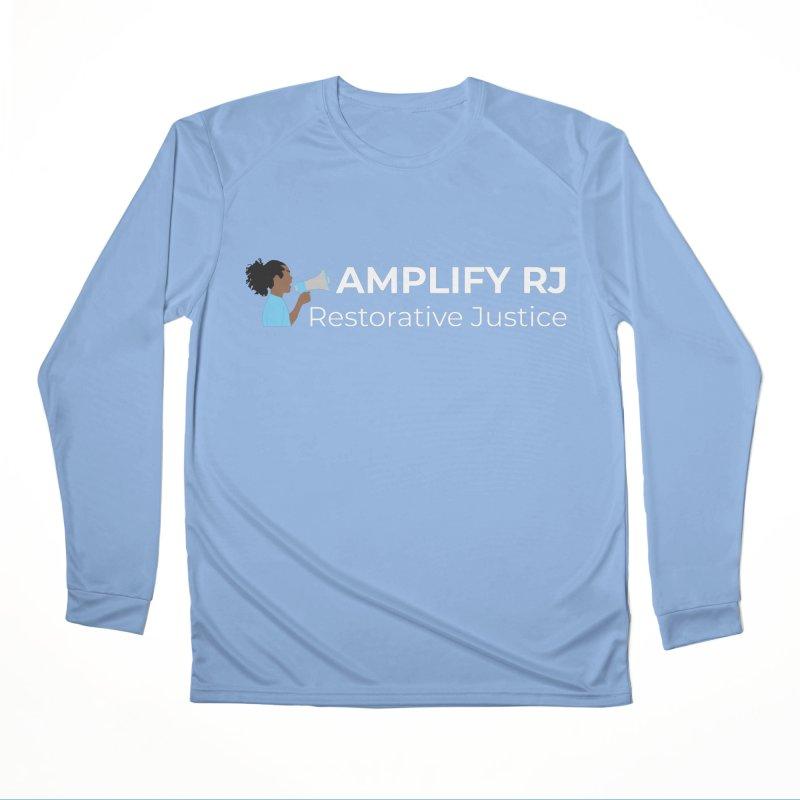 OG ARJ Logo (White) Women's Longsleeve T-Shirt by amplifyrj's Artist Shop