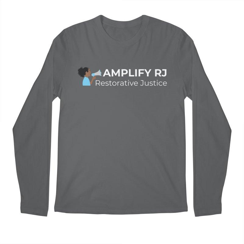 OG ARJ Logo (White) Men's Longsleeve T-Shirt by amplifyrj's Artist Shop