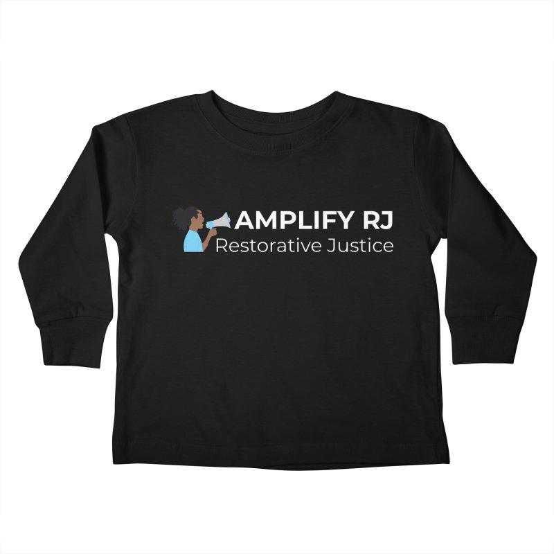 OG ARJ Logo (White) Kids Toddler Longsleeve T-Shirt by amplifyrj's Artist Shop