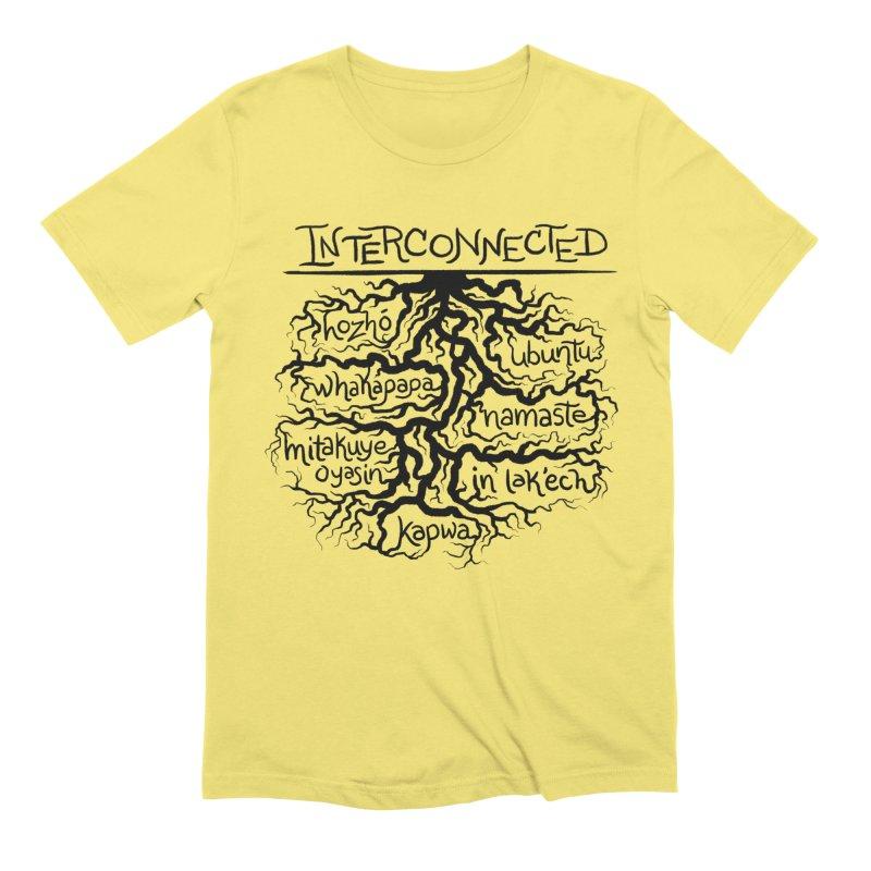 INTERCONNECTED (Black) Men's T-Shirt by amplifyrj's Artist Shop