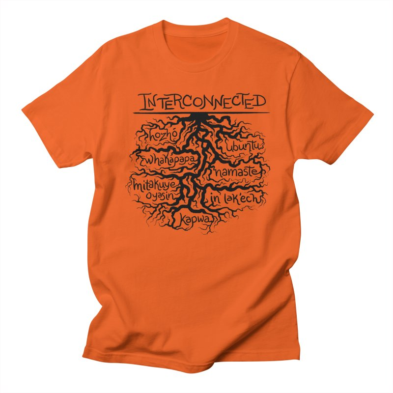INTERCONNECTED (Black) Men's T-Shirt by amplifyrj's Artist Shop