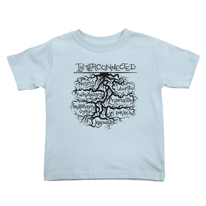 INTERCONNECTED (Black) Kids Toddler T-Shirt by amplifyrj's Artist Shop
