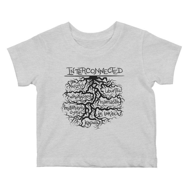 INTERCONNECTED (Black) Kids Baby T-Shirt by amplifyrj's Artist Shop